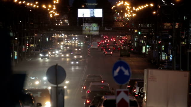 City traffic of Novosibirsk video