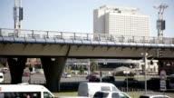 City traffic. Road and Bridge video