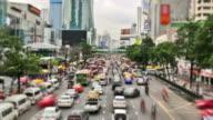 City Traffic Time Lapse Bangkok Zoom video