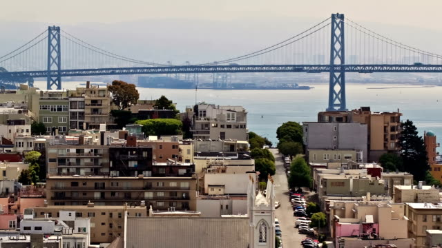 City Traffic Time Lapse Bay Bridge video