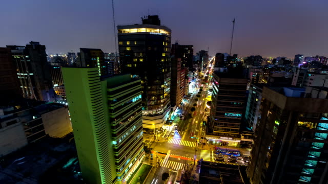 City Traffic TIme Lapse Lima Pan video