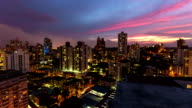 City Traffic TIme Lapse Panama City Pan video