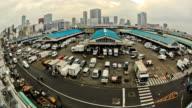 City Traffic Time Lapse Tokyo Fish Market video