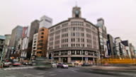 City Traffic Time Lapse Tokyo Ginza video