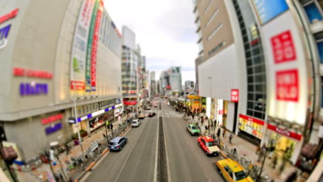 City Traffic Time Lapse Tokyo video