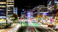 City Traffic Time Lapse video