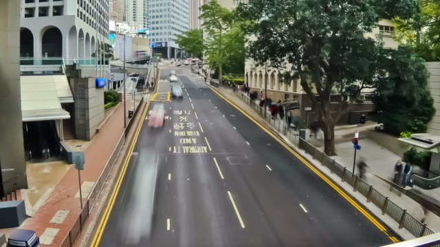 City Traffic Time Lapse Zoom Hong Kong video