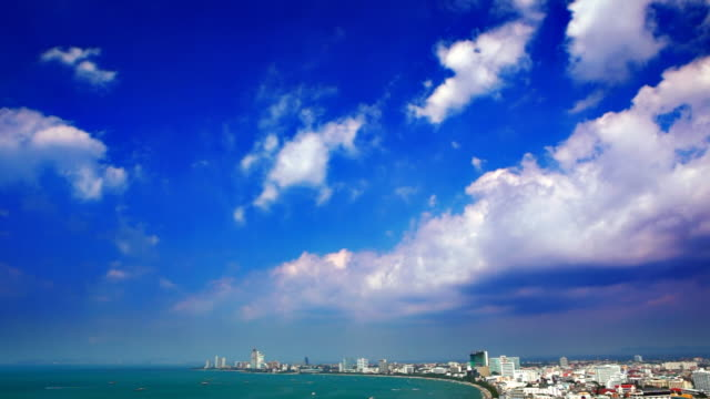 City under sky video