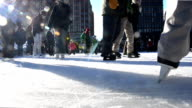 HD - City Urban Ice Skating Ring Quebec video