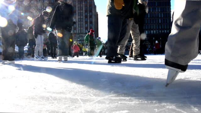 HD - City Urban Ice Skating Ring Quebec video