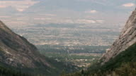City valley from mountain video