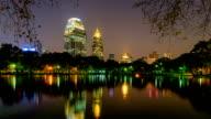 City view of Bangkok from Lumpini Park, Thailand video