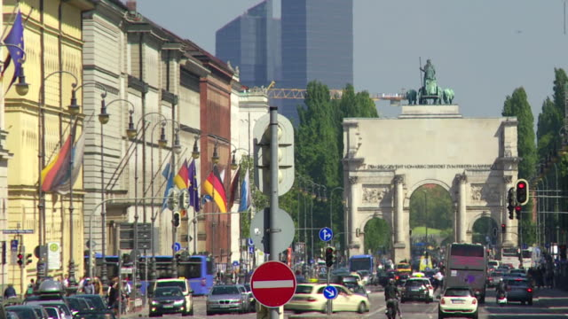 City View Of Munich Time Lapse video