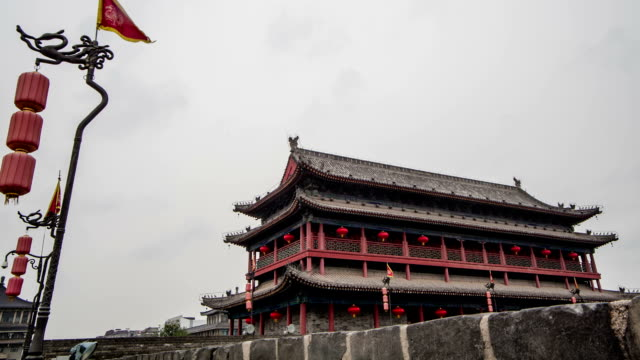 city wall of south gate,xi'an video
