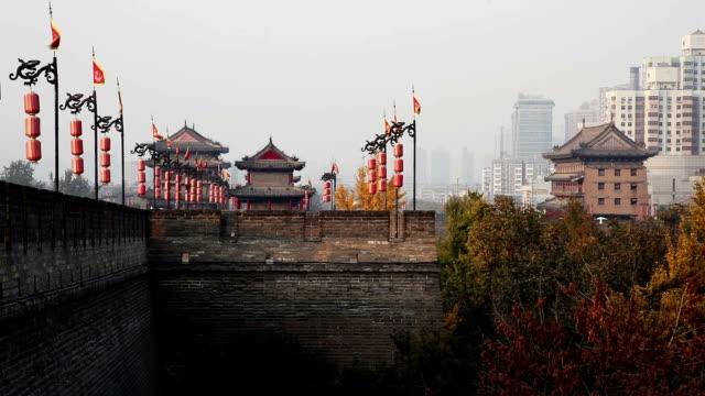 city wall of xi'an video