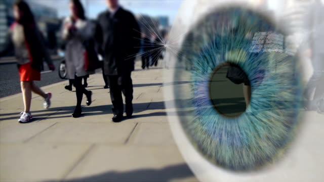 City Workers Digital surveillance montage. video