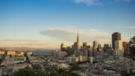 cityscape and skyline of san francisco. timelapse 4k video