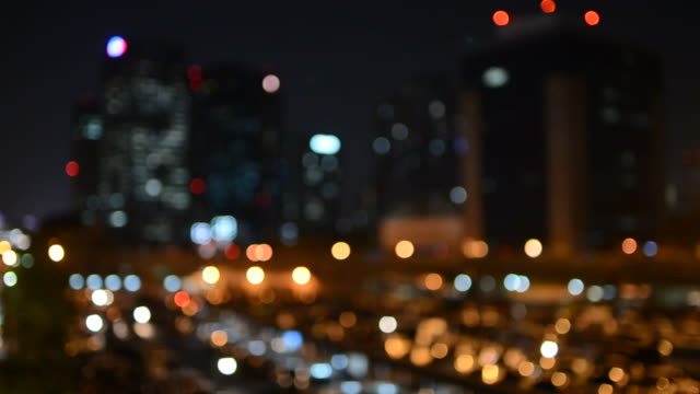 Cityscape bokeh style video background video