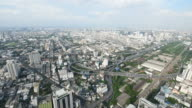 Cityscape, Expressway with traffic on road in Bangkok city Thailand. video