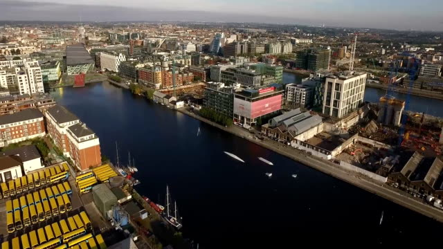 Cityscape from Grand Canal Dock - Northern sight video