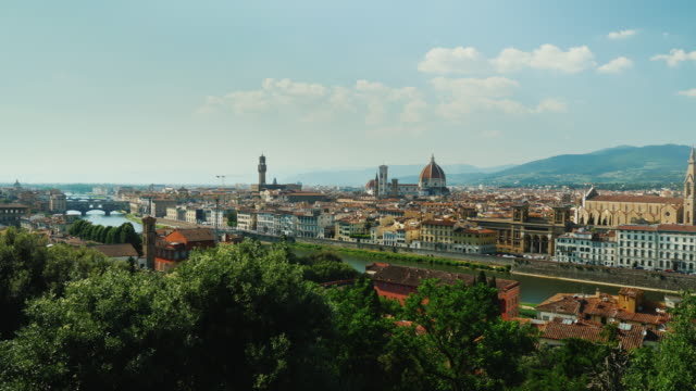 Cityscape of Florence in Italy. A popular destination among tourists from all over the world. Pan shot video