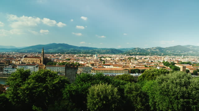 Cityscape of Florence in Italy. A popular destination among tourists from all over the world video