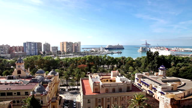 Cityscape of Malaga in Spain video