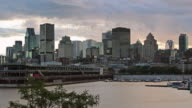 4K Cityscape of Montreal, Quebec, Canada at Sunset video