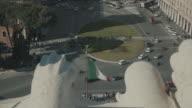 Cityscape of Piazza Venezia and Rome in 4K video