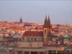 Cityscape of Prague during sunset video