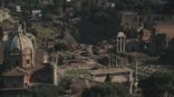 Cityscape of Roman Forums and Coliseum in 4K video