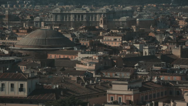 Cityscape of Rome in 4K: the Pantheon video