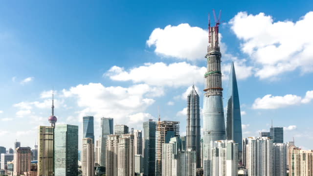cityscape of shanghai,time lapse video