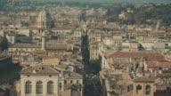 Cityscape of Via del Corso and Rome in 4K video