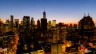 NYC Cityscape Time Lapse Dusk video