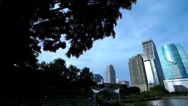 Cityscape view of Bangkok modern video