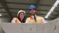 Civil Engineers Working at Construction video