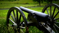 US Civil War Cannon Pan from Gettysburg National Military Park video