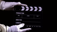 Clapperboard sequence video