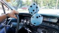 Classic car cruising. video