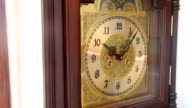 Classic clock with moving pointer video