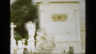 1957: Classic gravestone above-ground tombs cemeteries cities of the dead crypt keepers. video