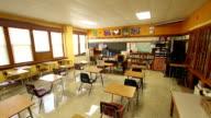 Classroom Interior - Wide Angle Pan video