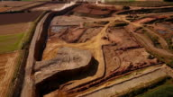 Clay pit - aerial view video