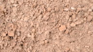 Clay soil surface background video
