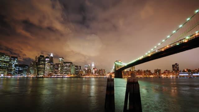 Clean HD - Manhattan and Brooklyn Bridge video