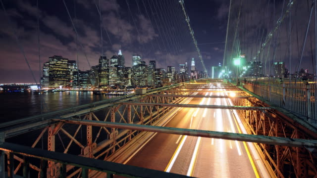 Clean HD time lapse - Manhattan with Bridge Traffic video