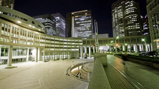 Clean HD time lapse - Tokyo plaza at night video