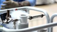 clean valve on liquid nitrogen tank video