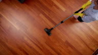 cleaning lady overhead vacuum cleaner video
